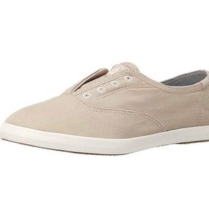 Keys khaki laceless slip on sneaker size 8.5